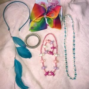 Girls Jewelry and Accessory Bundle (Blue)